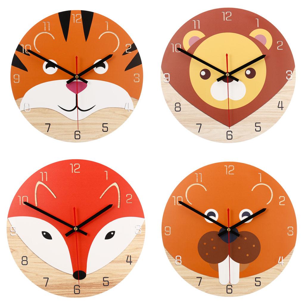 Orologio da parete con animali