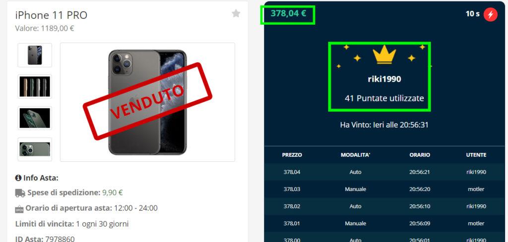 Vinci un iPhone 11 PRO MAX