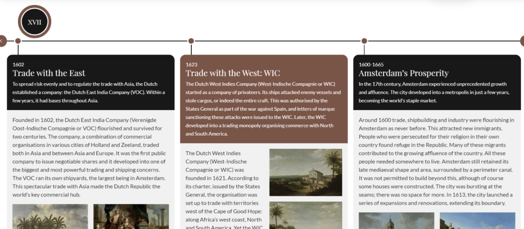 Creare timeline di eventi storici